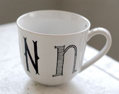 custom monogrammed coffee cup. so cute!
