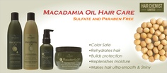 New Products from Hair Chemist Limited. All are sulfate and Paraben FREE . Macadamia Oil, Paraben Free, Chemist, How To Make Hair, Hair Oil, Hair Care, Moisturizer, Products, Moisturiser
