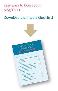 Blog Post SEO Checklist Seo Guide, Seo Tips, Seo For Beginners, Time Management Tips, Earn Money Online, Make More Money, Social Media Tips, How To Start A Blog, Online Marketing