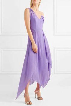 Shop for Roland Mouret Felcourt One-shoulder Silk-crepe Dress at ShopStyle.com