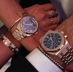 His and hers ❤️❤️ #Wristgame #Audemarspiguet #Rolex #Cartier His And Hers Rolex, Piguet Watch, Jewelry Accessories, Fashion Accessories, Cartier Bracelet, Fashion Watches, Women's Fashion, Michael Kors Watch, Luxury Branding