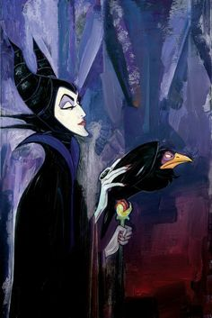 """""""Look, Maleficent, we need to talk. It isn't that I haven't thought about it. I mean, my god, you're beautiful. But you're an evil sorceress and I'm a mangy bird. It will never work out. So, kindly remove your hand...it is making me...uncomfortable."""" - Diablo"""
