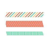Retro Fresh Washi Tape -- Digital Download includes 3 designs by Stampin Up for MDS. www.PattyStamps.com