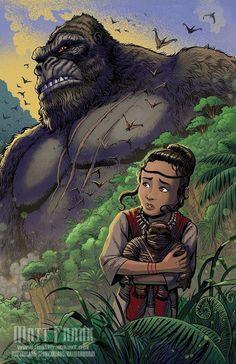 King Kong Vs Godzilla, Godzilla Vs, King Kong Skull Island, All Godzilla Monsters, One Punch Man Manga, Arte Nerd, Fox Kids, Monster Concept Art, Arte Cyberpunk