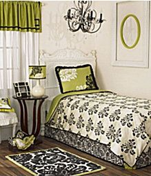 Lime Green N Black Sophisticated Bedroom Home Decor S
