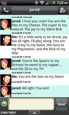 too cute! A conversation between Jensen and Jared! This just makes me too happy