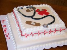 This cake was made for the doctors and nurses as...