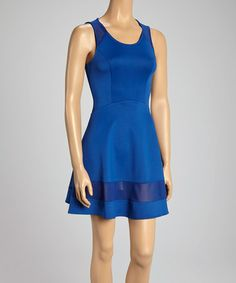 1da9c4bacfc Look what I found on  zulily! Blue Cutout Dress by Love Point  zulilyfinds