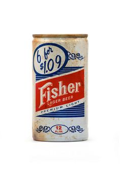 Fisher Lager beer can
