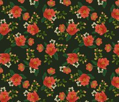 Holiday Floral fabric by shelbyallison on Spoonflower - custom fabric