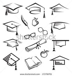 sketch of graduation cap - Google Search