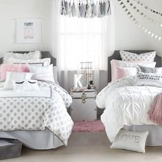Light and airy, the Loft Duvet Cover and Sham Set is the epitome of sophisticated simplicity. With delicately gathered pintuck details, this romantic set can be imagined in countless aesthetics. Featu