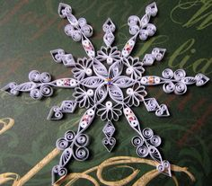 Snowflake Ornament by HeirloomQuilling on Etsy