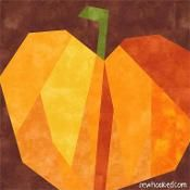 "3"" 5"" & 6"" Paper Pieced Pumpkin - via @Craftsy"