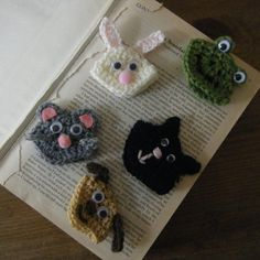 Mousey Crochet Corner Bookmark