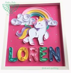 Quilling Letters, Paper Quilling Patterns, Quilling Paper Craft, Easy Paper Crafts, Diy And Crafts, Crafts For Kids, 3d Paper Art, Unicorn Drawing, Recycled Magazines