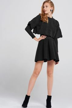 Badu Cape Knitted Dress Discover the latest fashion trends online at storets.com