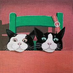 Vicky Mount Needlepoint<BR>Waiting For Dinner