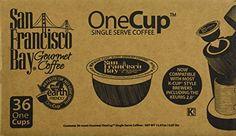 San Francisco Bay OneCup, Espresso Roast, 36 Count- Single Serve Coffee, Compatible with Keurig K-cup Brewers