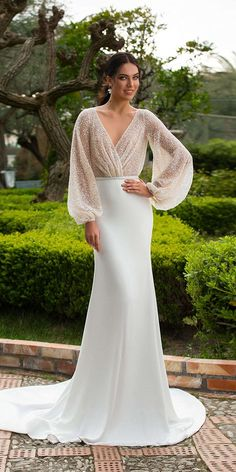 Innocentia wedding dresses are very diverse classic handembroidered dresses unique dresses etc. Taormina Bridal Collection will surely make your dreams come true. So relax sit down and see bridal gowns of this beautiful collection Wedding Dress Chiffon, Long Wedding Dresses, Princess Wedding Dresses, Wedding Dress Styles, Bridal Dresses, Lace Dress, Prom Dresses, Dresses Dresses, Unique Dresses