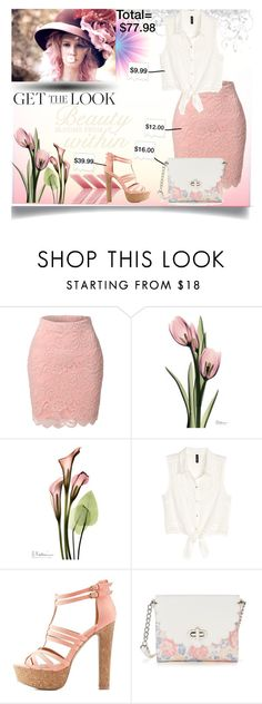 """Look for less"" by jeneric2015 ❤ liked on Polyvore featuring LE3NO, H&M, Charlotte Russe, Candie's and GetTheLook"