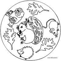 eichhörnchen mandalas - ausmalbilder für kinder | thema