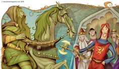The Green Knight – an Arthurian legend in Storytime Issue 6. Illustration by Oscar Senonez (http://oscarsenonez.blogspot.co.uk) ~ STORYTIMEMAGAZINE.COM