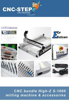 Our High-Z bundle including accessories. STart directly with your machining. #cnc #milling #cncrouter Cnc Milling Machine, Cnc Router, Metalworking, Woodworking, 3d, Accessories, Carpentry, Wood Working, Woodwork