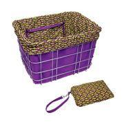 Electra Basket Liner Purple/Ovals