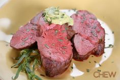 Ina Garten's Slow-Roasted Filet of Beef with Basil Parmesan Mayonnaise #TheChew