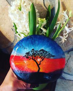 Habd painted stone