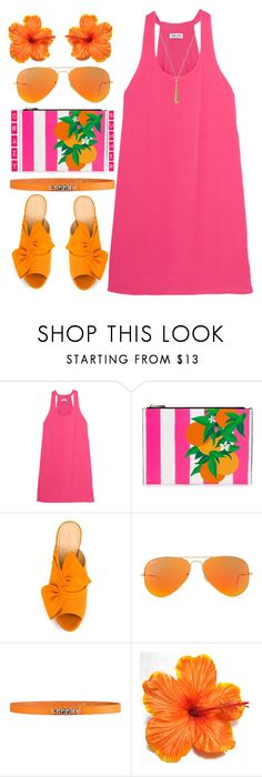"""""""Crazy Summer"""" by rasa-j ❤ liked on Polyvore featuring Splendid, Charlotte Olympia, Ray-Ban, George J. Love and Gucci"""