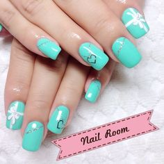 Tiffany Blue Nails.