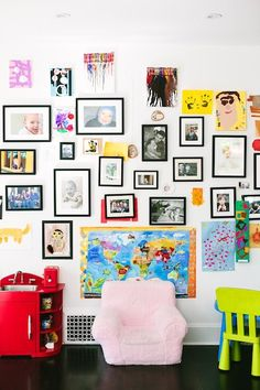 White space with splashes of color at Catherine McCord's home | photos by Mary Costa for Camille Styles