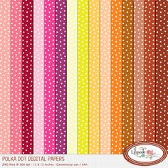 Polka dot digital papers featuring a small and irregular white polka dot pattern in 15 color variations. These digital papers are perfect for teachers, you will use them over and over to create backrounds for your lesson plans, classroom decorations and task cards. Also great to create handmade cards.