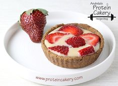 Strawberries and Cream Protein Tartlets - Andréa's Protein Cakery