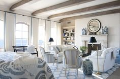Accent a space with porcelain.