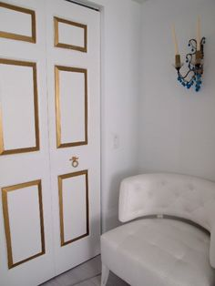 gold trim on doors with darker colour