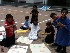 Expresión artística, creatividad, color y sensación.