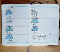 Cloudy day after cloudy day! Well it's expected for April. Kept it simple for this upcoming week. . #bulletjournal #bujo…