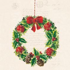 3666 Servilleta decorada Navidad