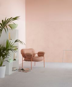 Lady Minerals Deco Pink 2782 - den flotte farve i Minerals Kalkmaling! Interior Design Inspiration, Home Interior Design, Interior Styling, Interior Architecture, Interior And Exterior, Peach Walls, Pink Walls, Interior Pastel, Interior Wall Colors