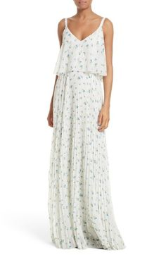 Main Image - GREY Jason Wu Crane Print Pleated Maxi Dress