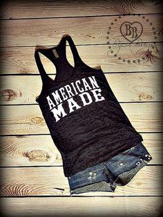 American Made Burnout Tank Top. Get it at www.bijoubuys.com ♥