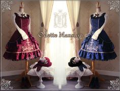 Odette Mansion Velvet Wine Lolita JSK