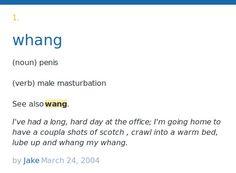 Schlong urban dictionary