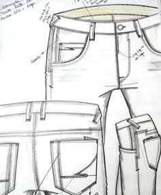 Croquis Masculinos - Inverno 2016 Denim Jeans Men, Jeans Pants, Evolution T Shirt, Cool Sketches, Fashion Flats, Fashion Sketches, Mens Fashion, Fashion Design, Clothes