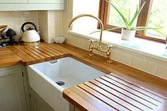 Our 8 Favorite Kitchen Countertop Materials: CounterTops Outdoor Kitchen Countertops, Kitchen Countertop Materials, Concrete Countertops, Kitchen Tiles, New Kitchen, Wooden Kitchen, Modern Countertops, Kitchen Board, Kitchen Units