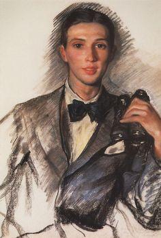 Portrait of the Artist D. Bushena, Zinaida Serebriakova