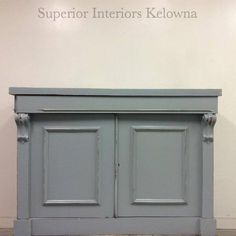 Chalk painted buffet refinished in Superior Paint Co. Galvanized Grey the new paint colour from the Modern Farmhouse Paint Collection. Farmhouse Buffet, Modern Farmhouse, Farmhouse Decor, New Paint Colors, Painted Buffet, Custom Furniture, Barn Wood, Grey, Outdoor Decor
